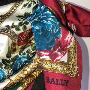 Exquisite Bally Silk Floral Scarf